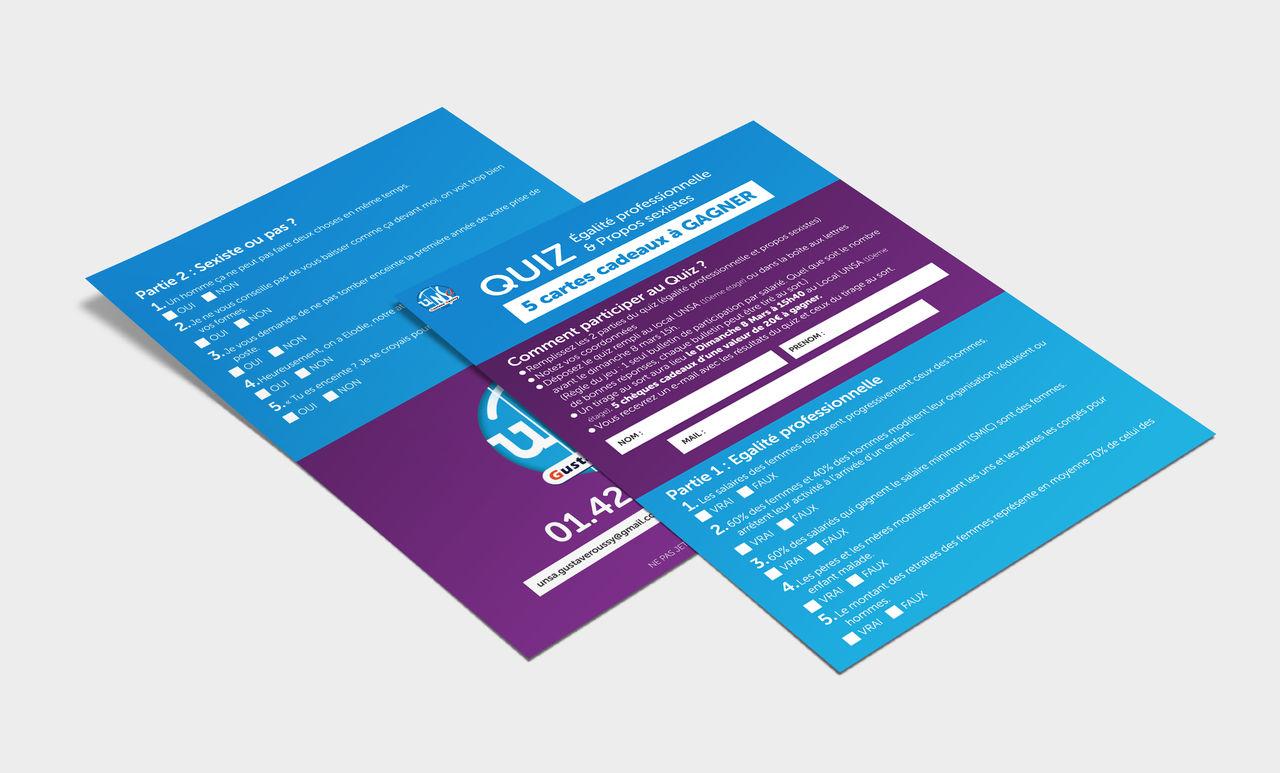 Quizz flyer