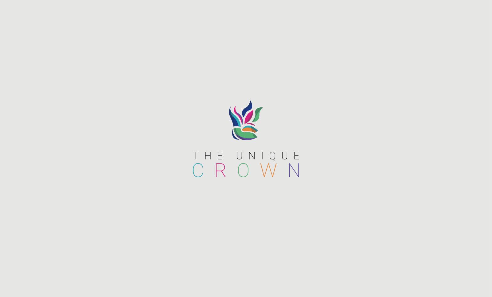 Logo couronne coloré