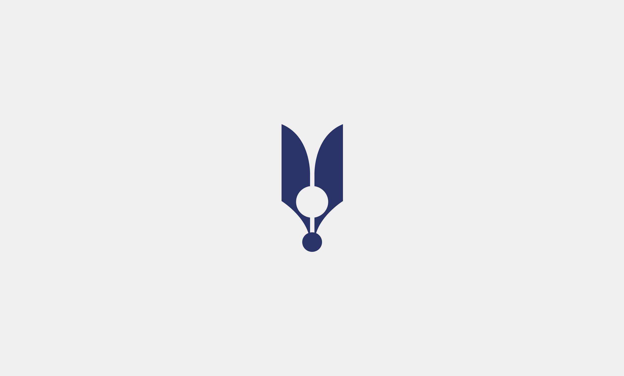 Logo d'une plume bleue