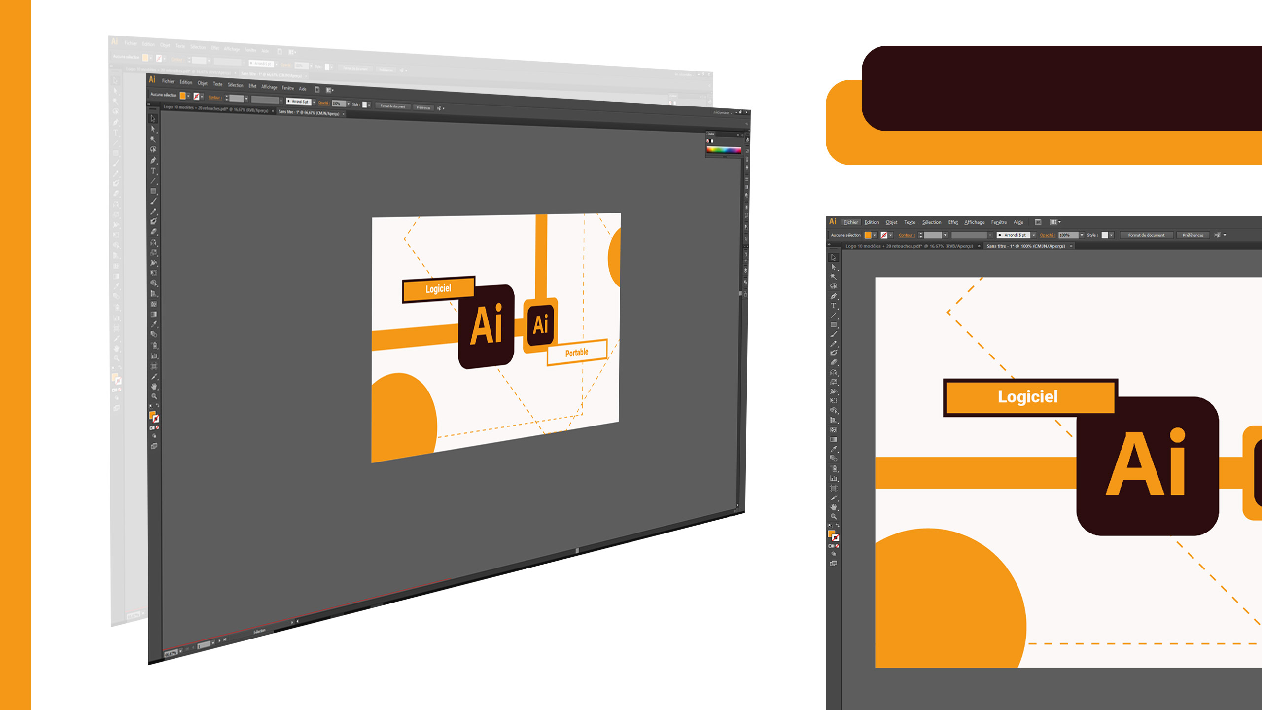 Zoom sur le logiciel Adobe Illustrator portable